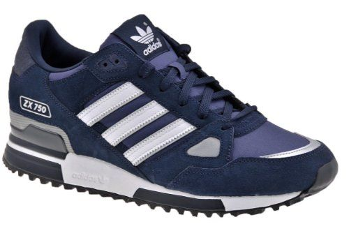e4e46fc9c Adidas Originals Men s ZX 750 Comp Navy Suede Running Retro Casual Shoes  Trainers