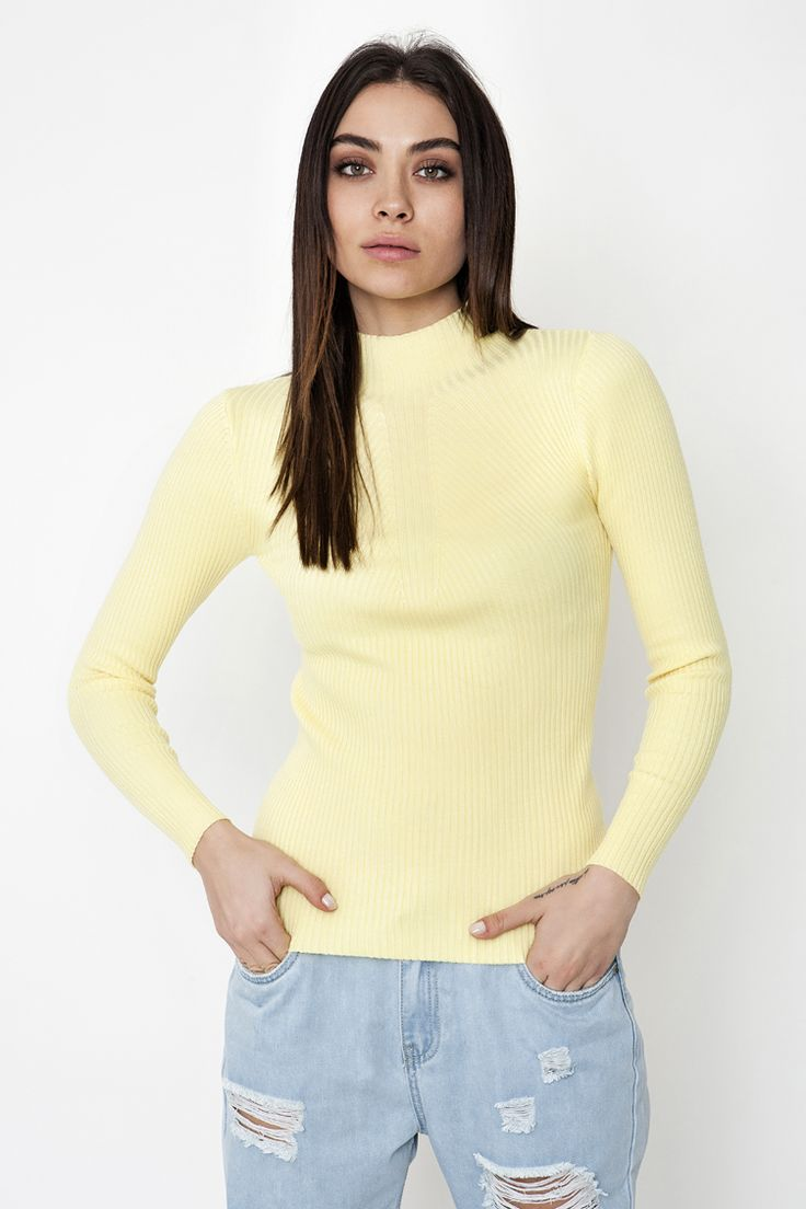 High Neck Ribbed Μπλούζα - ΡΟΥΧΑ -> Μπλούζες   Made of Grace