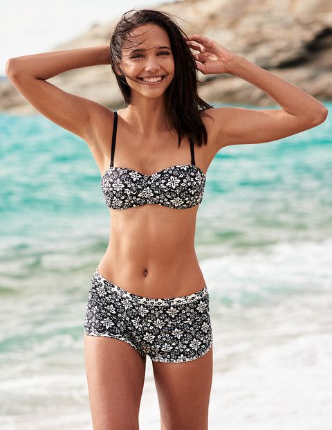 Boden Amalfi 4-way Bandeau Bikini Top & Swim Shorts