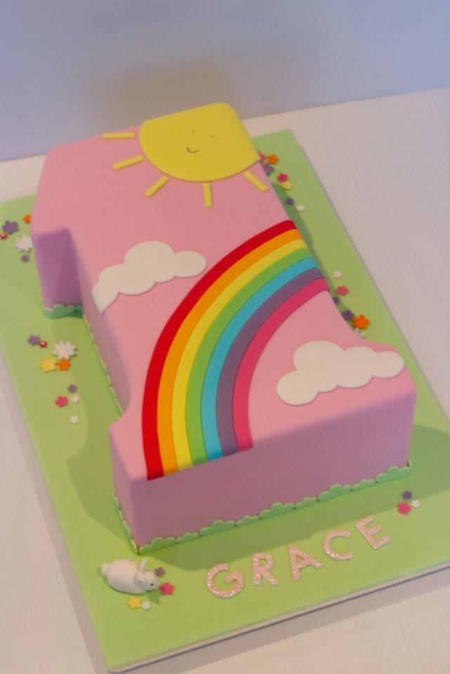 number ONE shape cake | 1st birthday cakes, First birthday ...