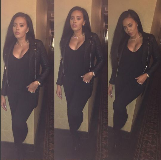 PREGNANT OR NAH? Angela Simmons Hides Her Tummy While Jetting Out Of L.A....And Her Suspicious Pics On Instagram
