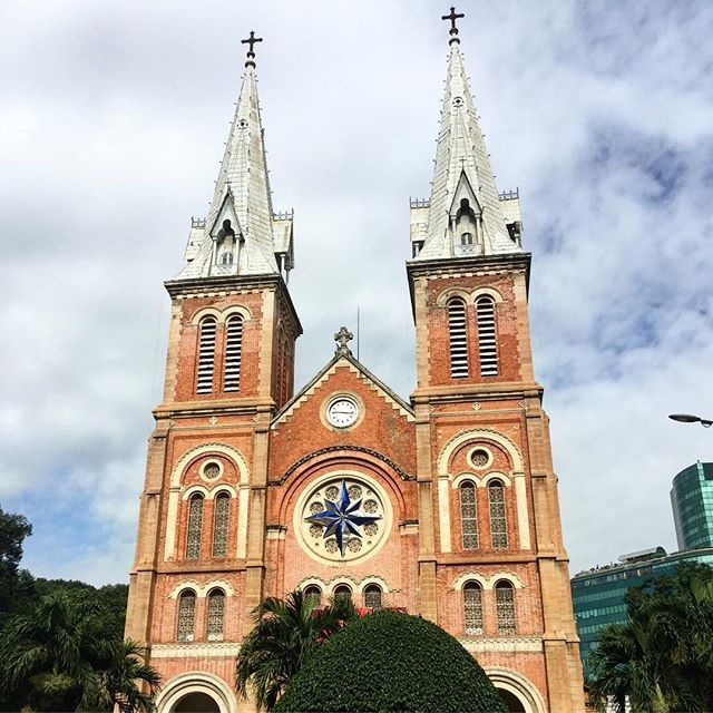 Notre Dame, Saigon.  A beautiful and still functioning Cathedral in the heart of the city.  Have you visited this or any other Notre Dame Cathedrals around the world?