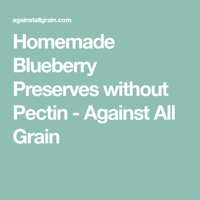 Homemade Blueberry Preserves without Pectin - Against All Grain