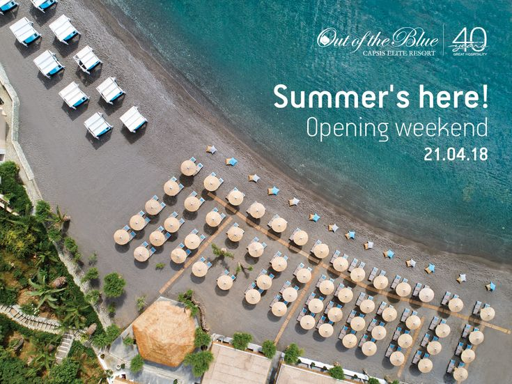 21/04/18: Opening weekend! Summer's here and so are we for another successful season, packed with amazing experiences and great hospitality! The highlight for 2018 is the resort's 40 year anniversary which we celebrate with events, promos and offers!  #OutOfTheBlueCapsis #Opening #Resort #Crete