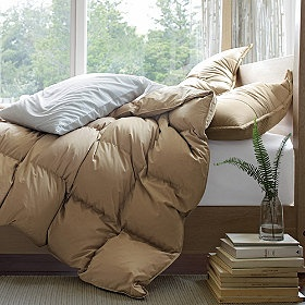 I mean seriously...what is better than a really big, poofy and comfy down comforter?