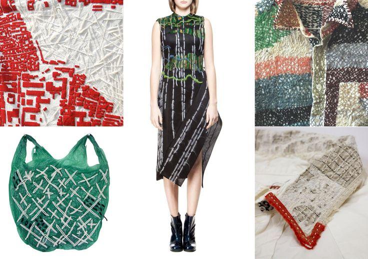 Punky stitches in fashion & art #embroidery #stitches #textile #imperfectdesign #sashiko #trends #fashion #art