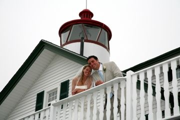 Lighthouse Inn, West Dennis - oceanfront, lighthouse - what more could you want for a wedding venue? #CapeCodWedding