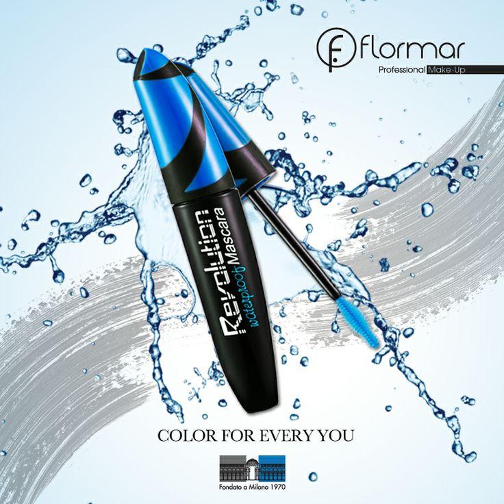 REVOLUTION WATERPROOF MASCARA www.flormar.com