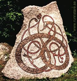 Home made Runestone. Very Impressive Urnes style