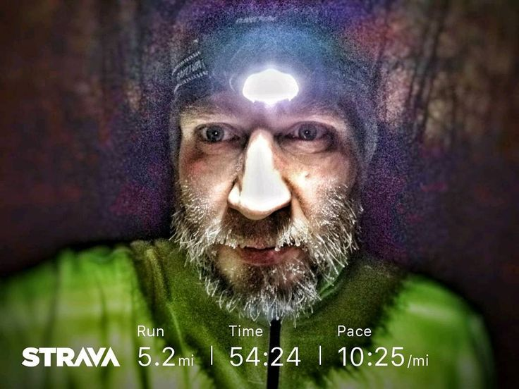 Running on snow covered roads in the dark was a new experience for me.  Trying to plot out a 5 mile route from gime to use on all my upcoming 5 mile runs that are part of my 50k training plan. Not really a fan of the route today.  #50k #trainingplan #running #winterrunning #frostybeard