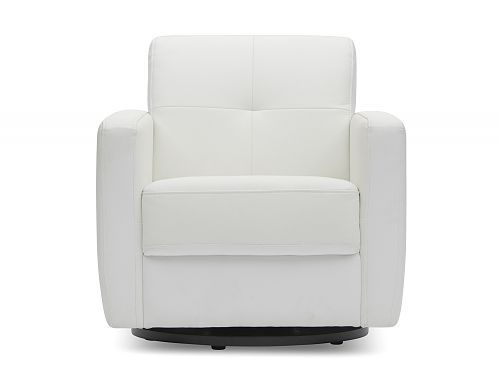 White Andy Swivel armchair was our choice for comfort, style and affordability.  #Uptownes  Design: Jo-Ann Capelaci  Builder: Geranium Homes