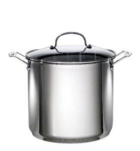 how to clean a blackened stainless steel pot