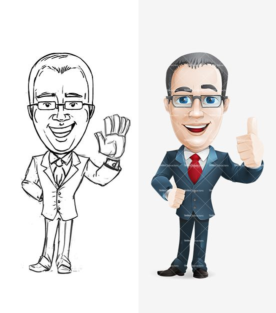 Cartoon Characters Guys : Middle aged businessman cartoon http tooncharacters