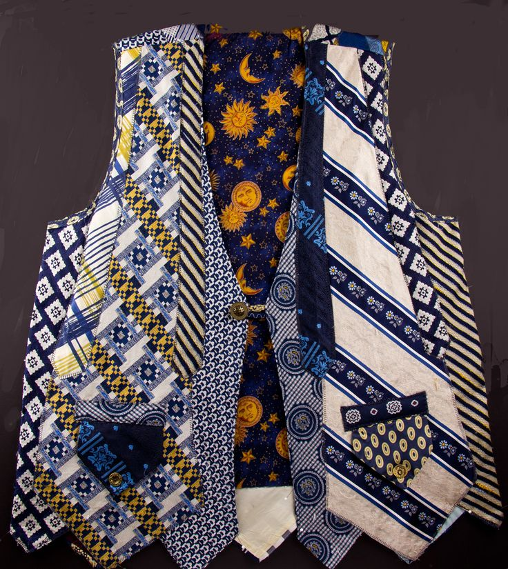 Vest from recycled ties - Recycled Wearable Art by Nancy Smeltzer