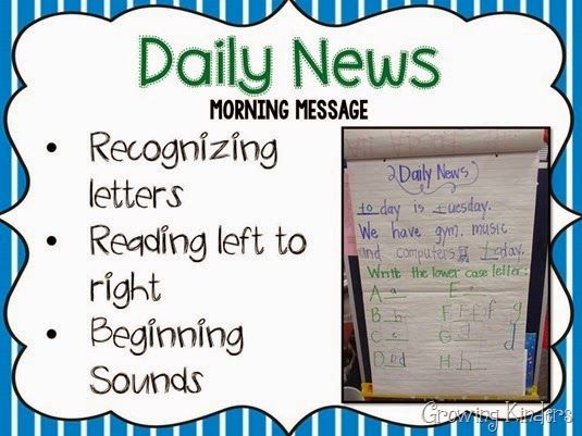 Daily morning news...definitely want to try to incorporate this year