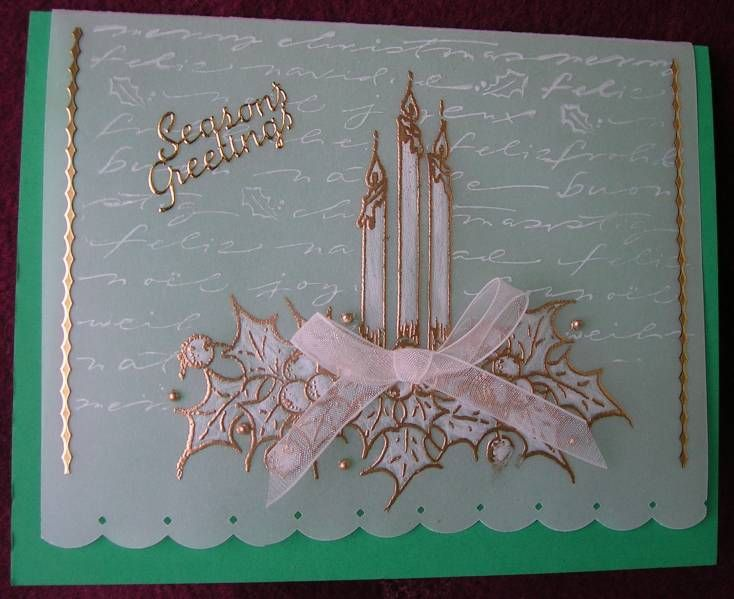 Faux Pergamano -Candles by !aah - Cards and Paper Crafts at Splitcoaststampers