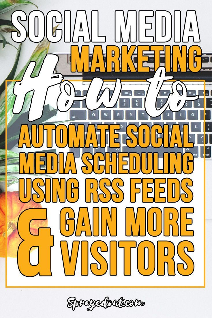 Best way to automate social media scheduling using RSS feeds. Schedule great content on Facebook, Twitter or other social media channel and find out how to get traffic back to your blog by sharing other people blog posts. Win-win situation: save time while enjoying your social media marketing: http://www.sprayedout.com/best-way-to-automate-social-media-scheduling-using-rss-feeds/