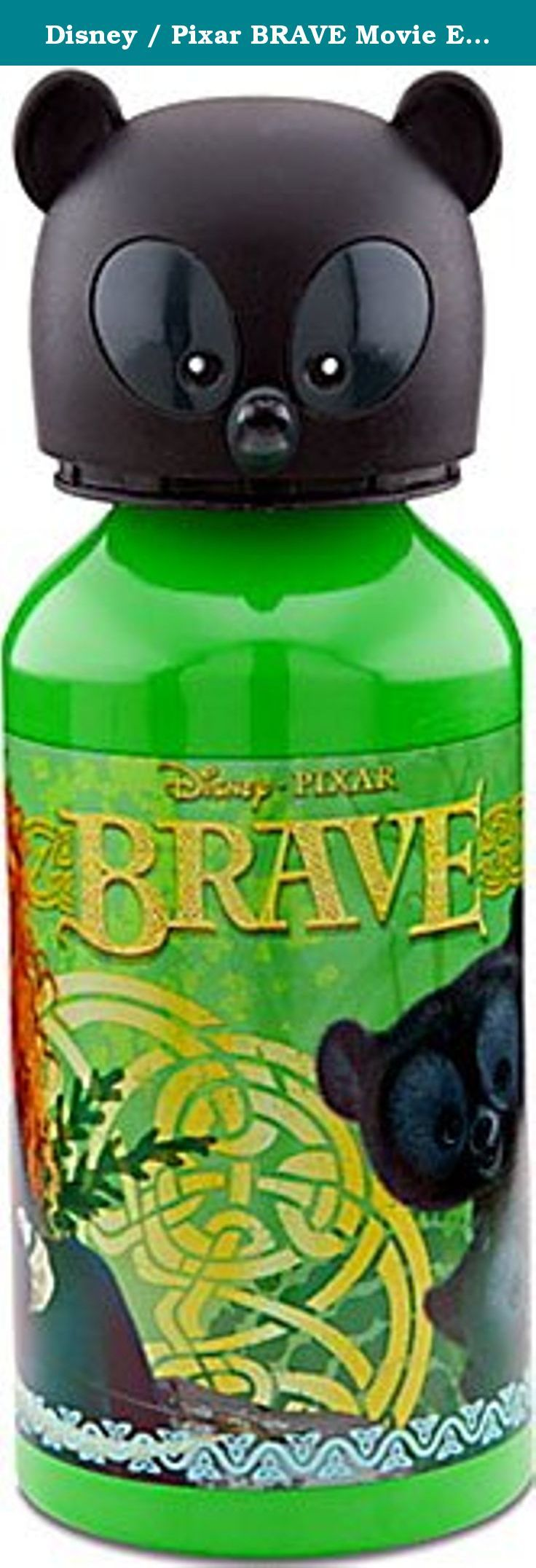 Disney / Pixar BRAVE Movie Exclusive Aluminum Water Bottle. Quench your thirst for adventure with our Aluminum Brave Water Bottle! Merida is joined by three bear cubs on this environmentally friendly water bottle featuring a bear cub as the screwtop cap.