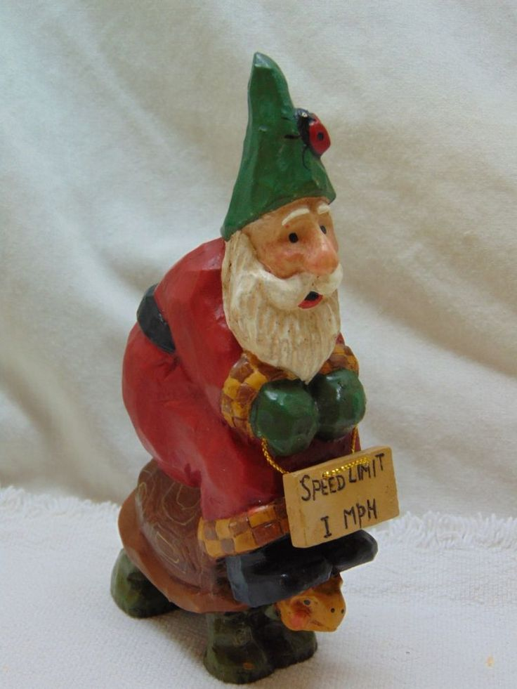 1999 Susan Smith House of Hatten Santa Riding Turtle Resin Figurine