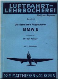 Bayerische Motorenwerke - BMW  Aircraft Engine Handbook Service Instruction Manual  ( German Language ) Luftfart- Lehrbucherei