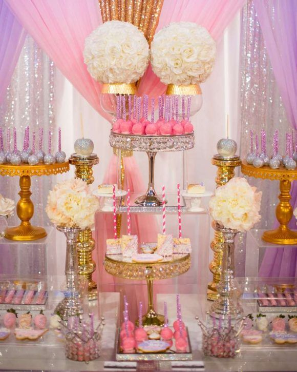 What An Amazing Glam Themed Baby Shower Catchmyparty Com