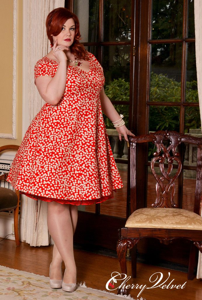 Plus size redhead models