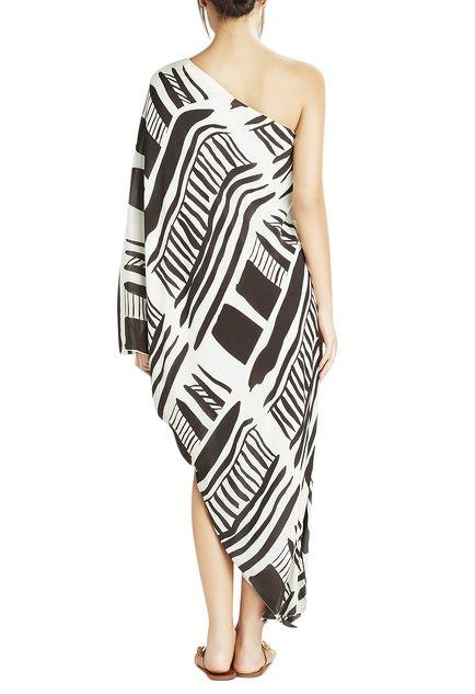 White one shoulder maxi dress