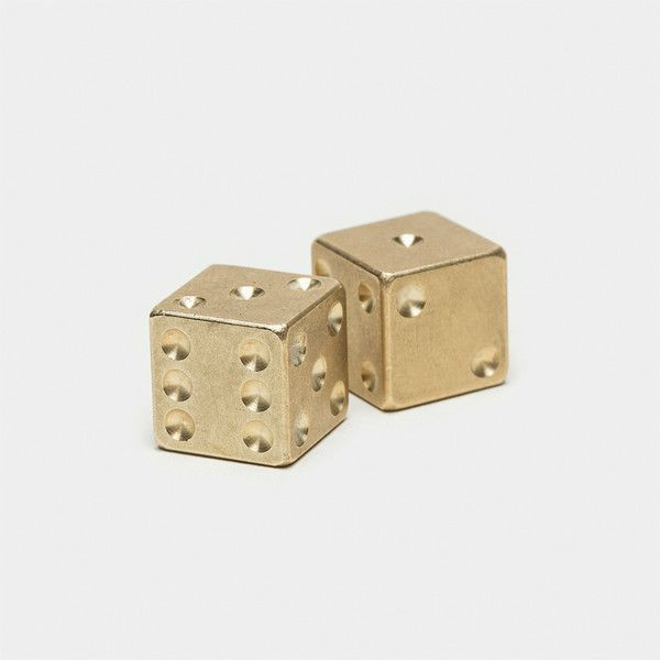 Brass Playing Dice - at $29 a pair this isn't really a viable option for wargaming... still pretty nifty