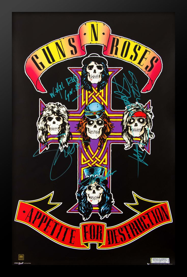 Guns N Roses Appetite For Destruction Autographed Music