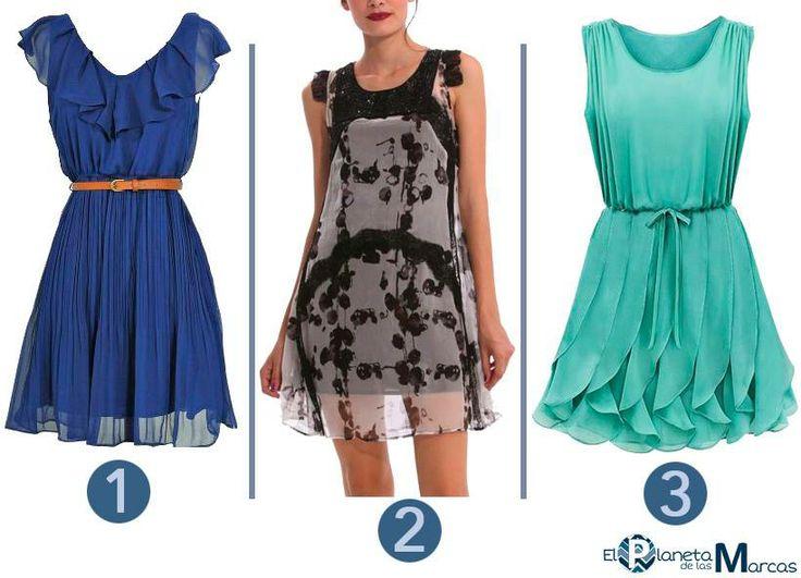 Tres opciones perfectas para el verano. Los vestidos de gasa ajustados a la cintura favorecen a todas las mujeres. #elplanetadelasmarcas #desigual #welovefashion  #wovdos #dress