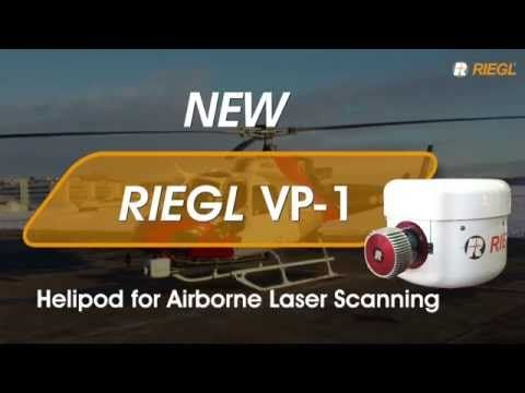 Click the picture to see the video of the RIEGL VP-1 helipod for airborne laser scanning. The VUX-SYS with a VUX-1LR long-range LiDAR scanner is integrated inside.  Message us for video use.