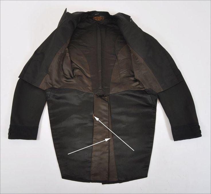 Antique 1840's - 60's Men's Dress Coat Tailcoat - S from mairemcleod on Ruby Lane