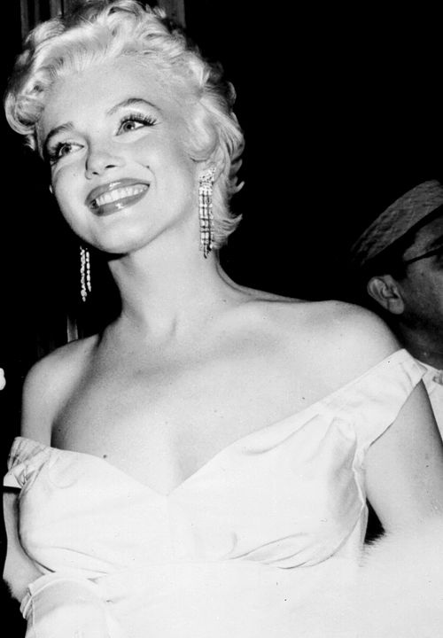 Marilyn Monroe on her birthday in 1955 at the premiere of The Seven Year Itch.