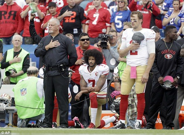 The anthem issue has been a major topic in the sports world in recent months, starting with the decision by San Francisco 49ers quarterback Colin Kaepernick (pictured) to not stand for its playing