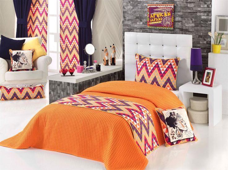 Ev Tekstili  Yatak Runnerleri,   APOLENA,   Apolena Safari Çift Kişilik Yatak Runner Takımı,   yatak runneri, runner, yatak ranırı, yatak estetiği