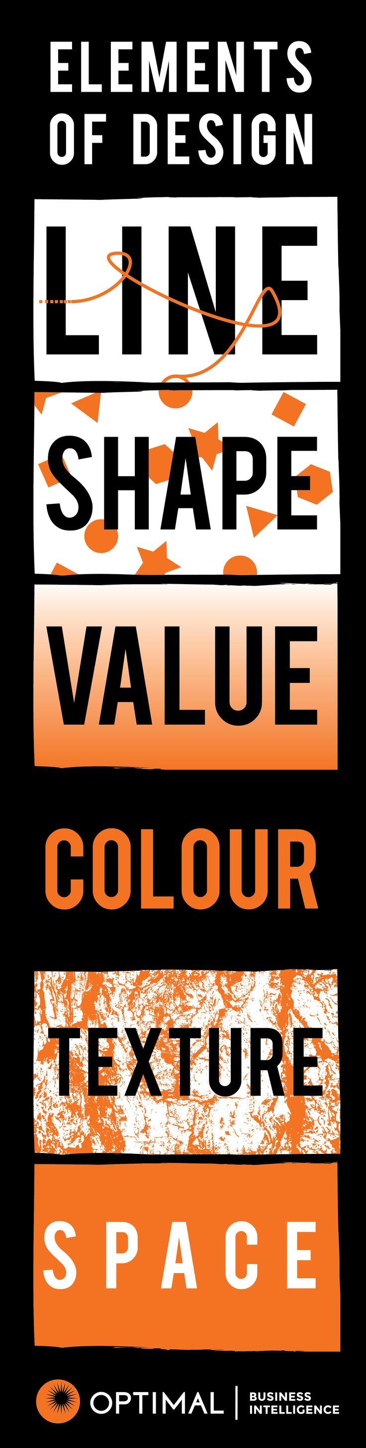 Elements of Design - Line, Shape, Value, Colour, Texture, Space #infographic #art #elementsofdesign