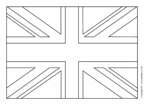 British Flag Coloring Page Union Jack Free Outstanding England Flag Coloring Pages Britain Flag England Flag