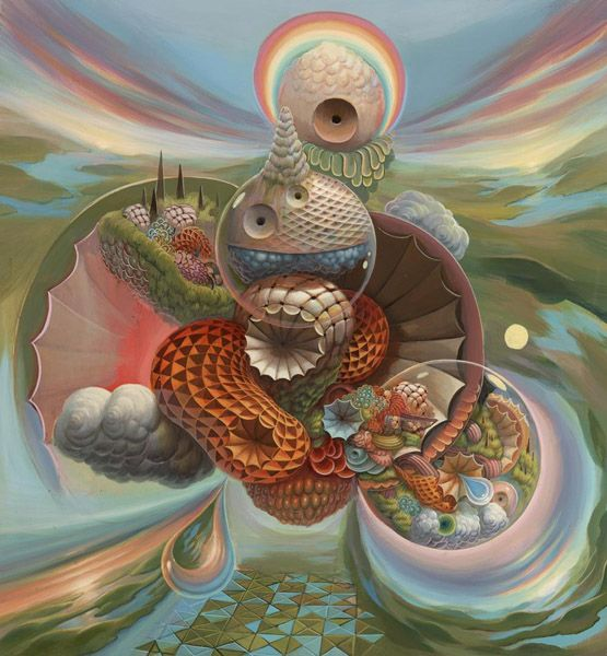 """The Nature of Time"" by Mars-1: Surrealism Art, Lowbrow Art, Mars1, Psychedelic Art, Mario Martinez, Mars 1, Visionaryart, Damon Soul, Visionary Art"