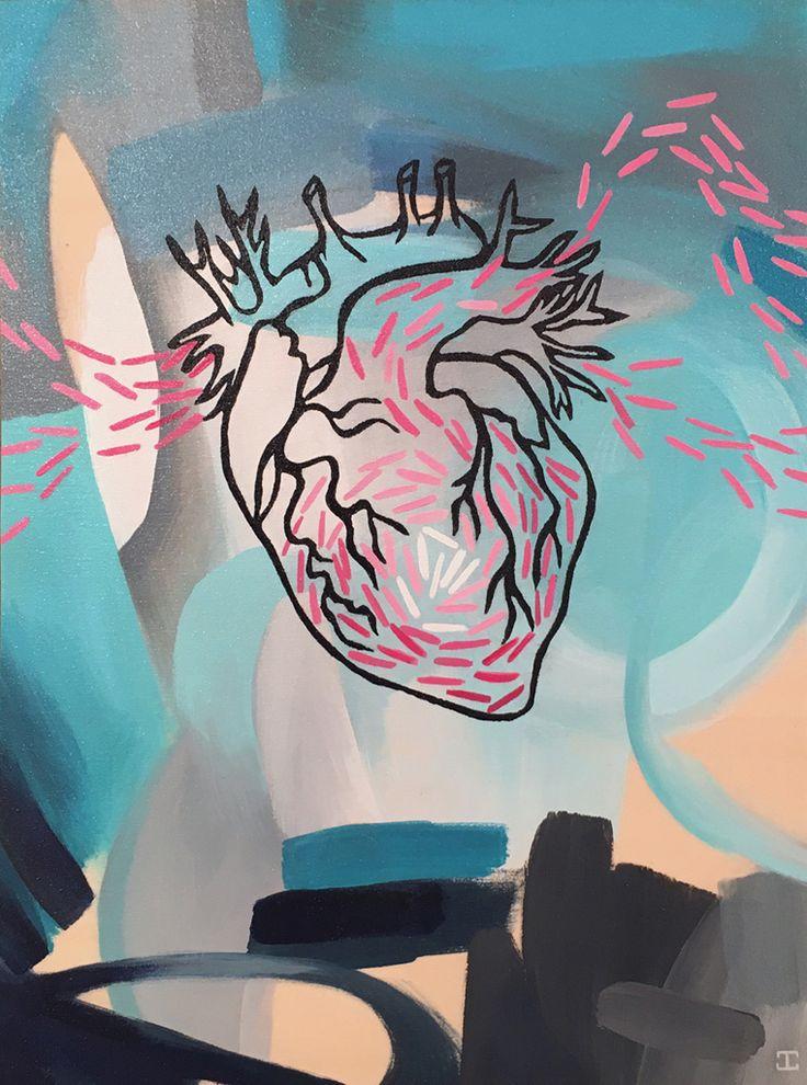 JENNIFER CLARK - Heartbeat, 2016 12˝ × 9˝ Acrylic on Panel