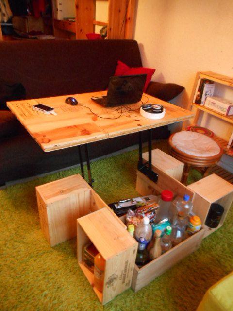 Les 25 meilleures id es de la cat gorie table relevable - Fabriquer sa table basse relevable ...