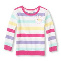 striped daisy sweater