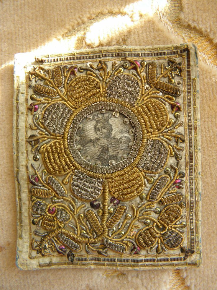 Antique Embrodered Catholic Scapular 1900 | eBay