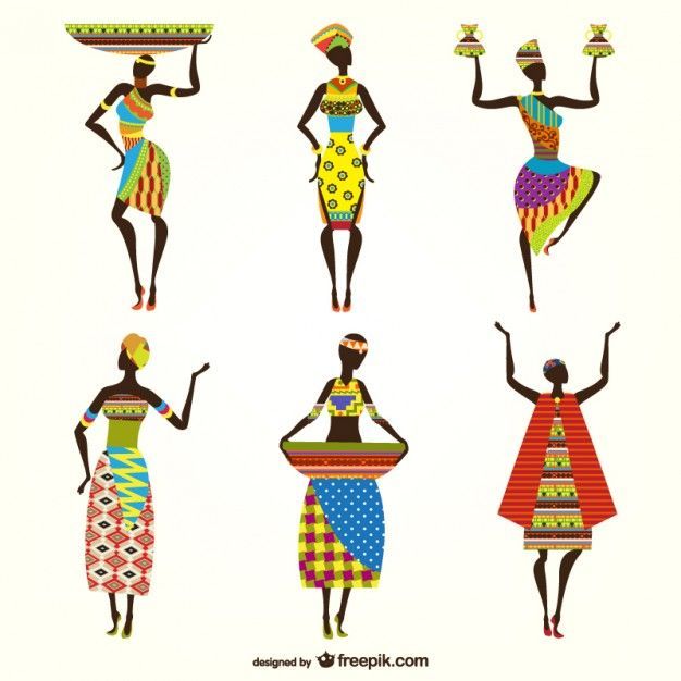 Mulheres africanas vetores Vetor grátis