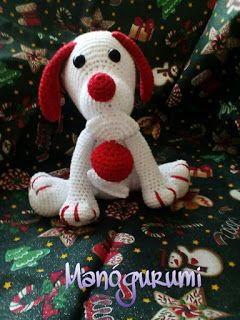 Manógurumi: Karácsony - Christmas dog - crochet toy - amigurumi