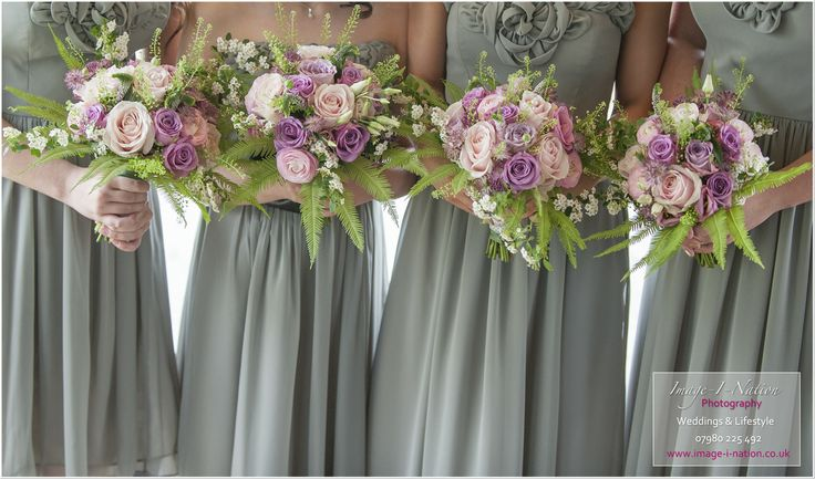 Dusky Pink bridesmaid bouquets to compliment sage green dresses. Image Credit http://www.image-i-nation.co.uk Flowers by www.boutiquepaeony.co.uk