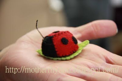 Ladybug for headbands, play, or barretts