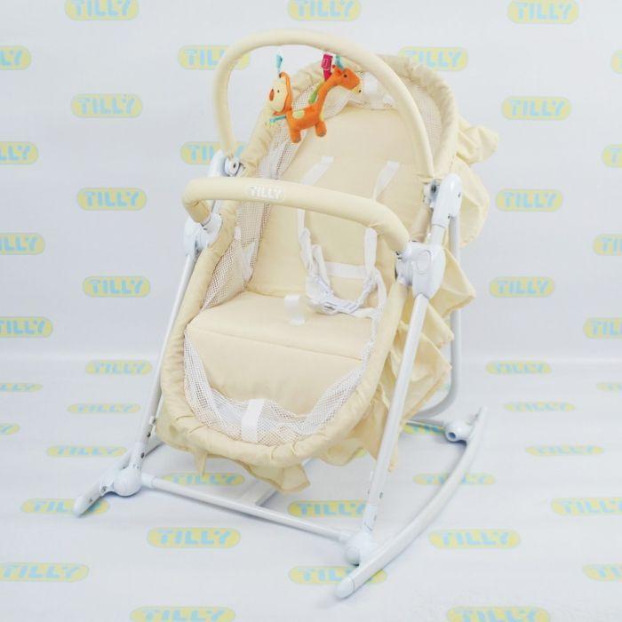 Детское кресло-качалка-люлька Baby Tilly BT-BB-0003 Beige  Цена: 60 AFN  Артикул: BT-BB-0003 Beige  Предназначение шезлонга-люльки TILLY BT-BB-0003 легкими и приятными покачиваниями погрузить ребеночка в сладкий сон и освободить маме время для отдыха.  Подробнее о товаре на нашем сайте: https://prokids.pro/catalog/detskaya_mebel/kresla_kachalki_shezlongi/detskoe_kreslo_kachalka_lyulka_baby_tilly_bt_bb_0003_beige/