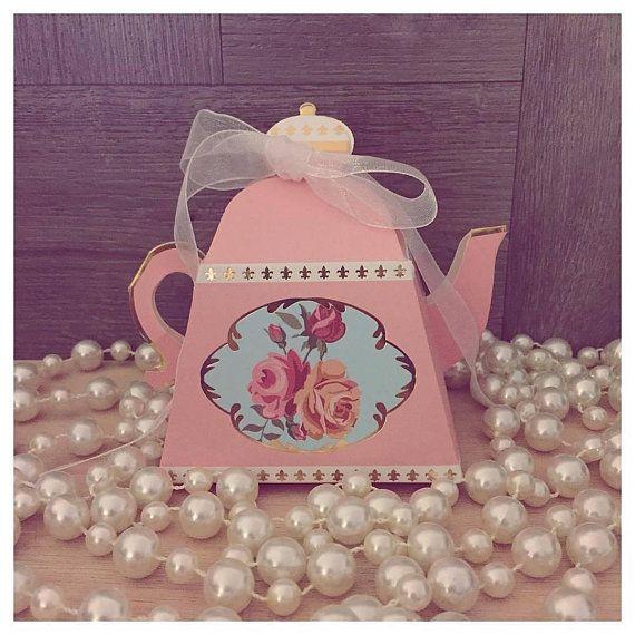 25 teapot favor boxes birthday bridal shower favors bulk