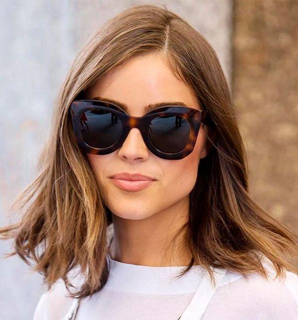óculos de sol grande, clássico e elegante