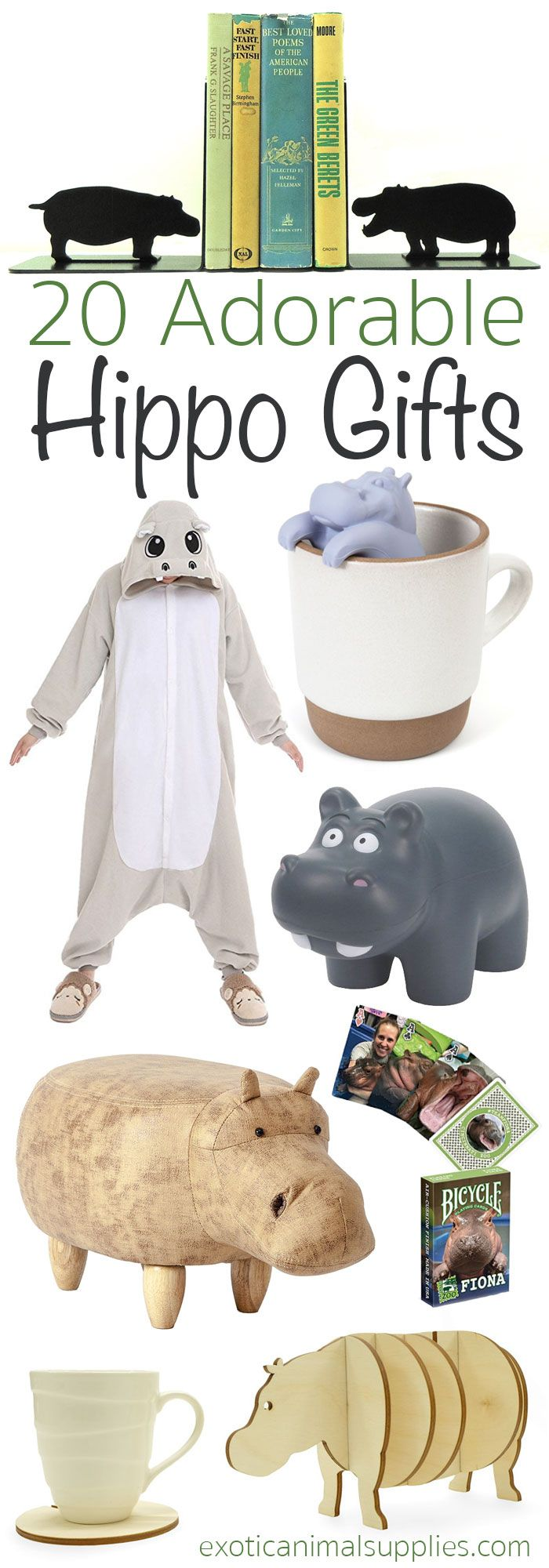 Look at these hippo gifts! Adorable, fun, and practical gifts for hippo lovers. Tiny hippopotamus toys, jewelry, and more. Perfect for Christmas, birthdays, and anniversaries. I love #12!